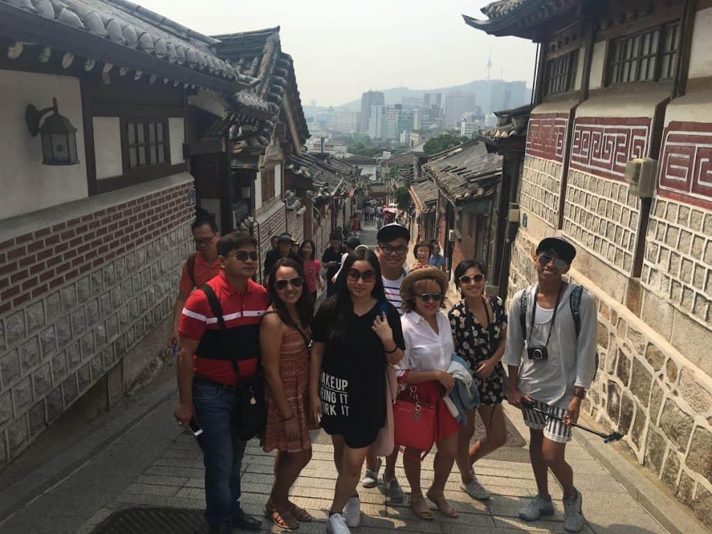PRworks fam tour at Bukchon Hanok Village
