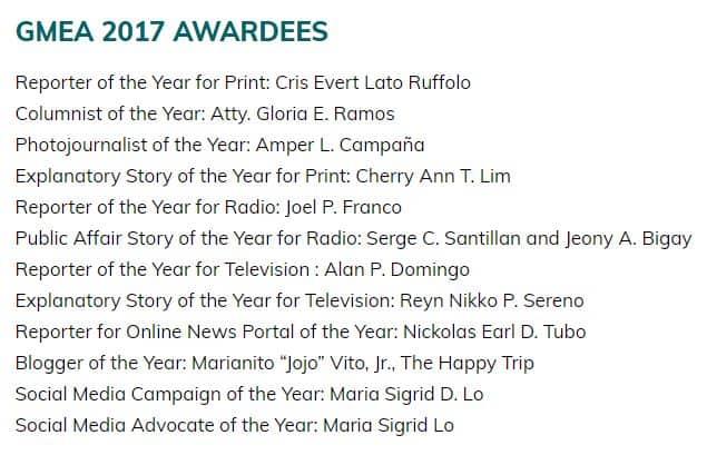 GMEA 2017 winners