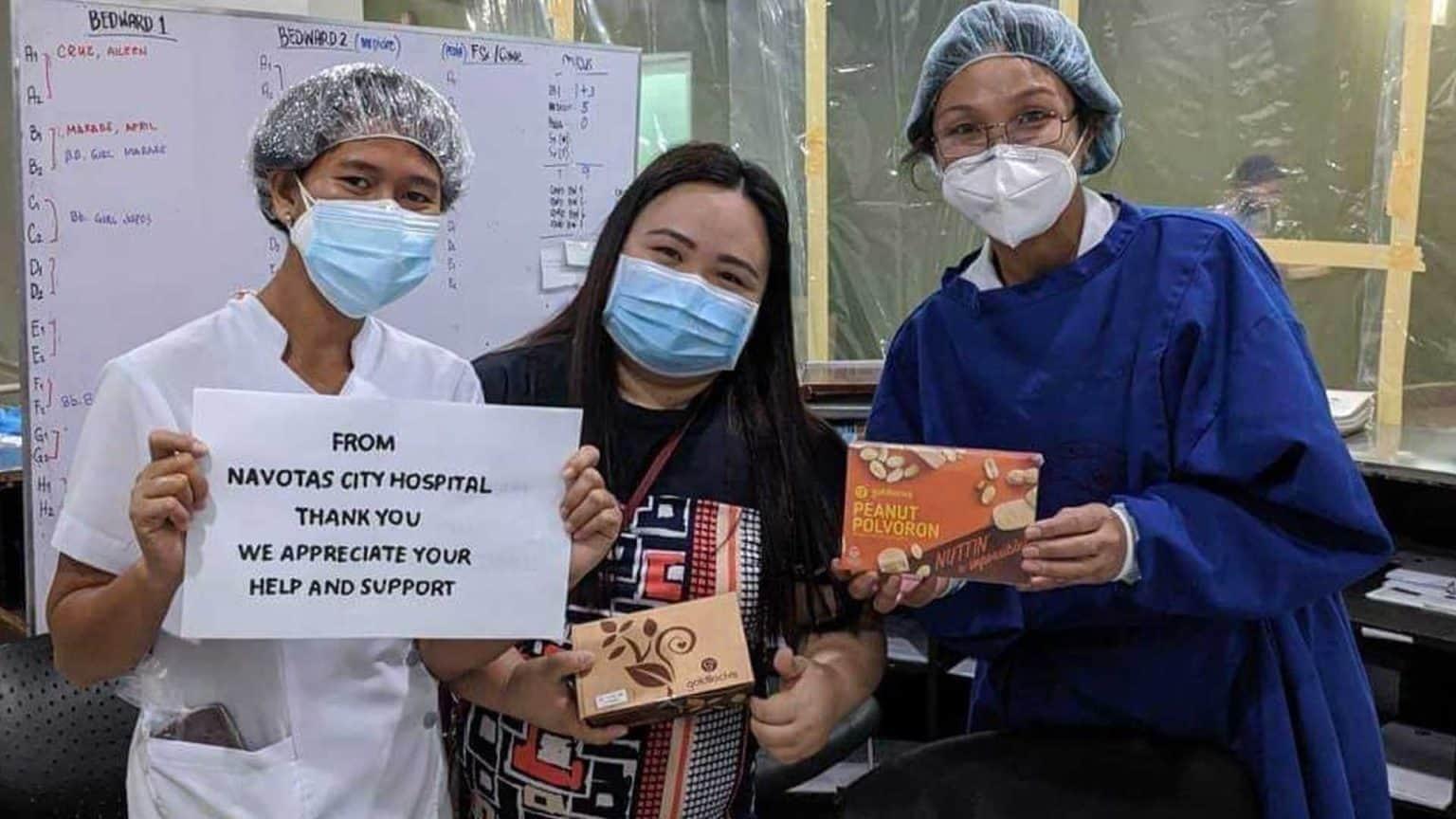 Goldilocks donates to hospitals