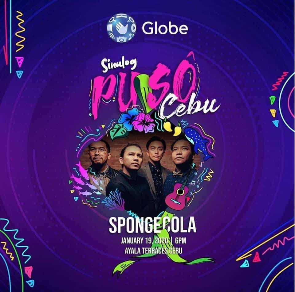 Sponge Cola at Ayala this Sinulog